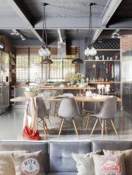 Стол в стиле Лофт (115+ Фото): Какой вид конструкции лучше? (письменный/журнальный/барный/обеденный/трансформер)