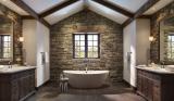 Отделка Ванной комнаты искусственным камнем: Умывальник, столешница, полки. Особенности использования материала