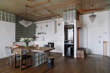 Урбанистический шик кухонь в стиле лофт — 255+ (Фото) Индустриальной атмосферы