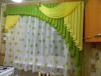 Дизайн шторы ламбрекена на кухню (145+Фото): непростая, но выполнимая задача по оформлению