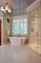 Плюсы и минусы натяжного потолка в ванную комнату: Лучшее решение или дань моде? (125+ Фото)
