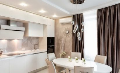 Отделка стен на кухне: 205+ Фото Вариантов (панели, ламинат, штукатурка). Как сочетать практичность с эстетикой?