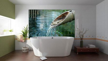 Варианты панно из плитки для ванной комнаты: 185+ (Фото) Вариантов на стену