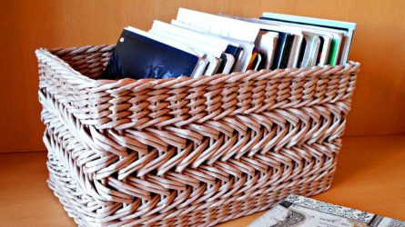 Плетение квадратной корзины для начинающих пошагово 89