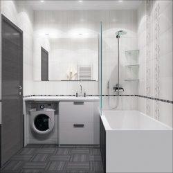 плитка для маленькой ванной комнаты 150 фото Modernplace