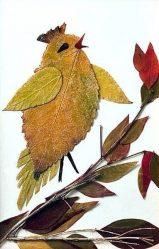 Поделка из листьев на листе бумаги Своими руками. Что нужно знать для создания красивой аппликации