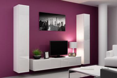 Красивый шкаф-стенка в Гостиную: 140+ Фото больших и модульных Стенок