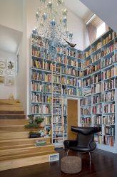 Книжные шкафы со стеклянными дверцами — 170+ (Фото) Вариантов моделей