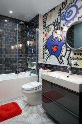 Выбор шторки в ванную комнату: 175+ (Фото) для Вашего дизайна (тканевые, пластиковые,стеклянные)