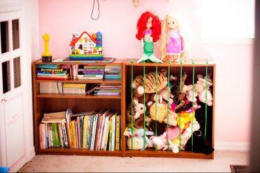 Стеллаж для книг и игрушек в детскую комнату: Простое и оригинальное решение системы хранения своими руками (225+Фото)