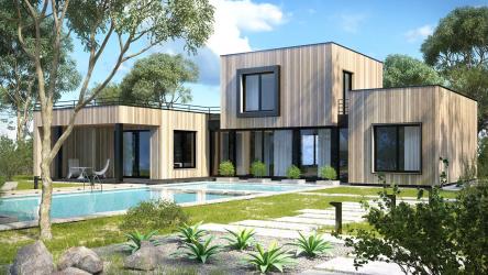 Проекты домов с плоской крышей – простые технологии постройки (одноэтажные, двухэтажные, деревянные, небольшие). Современные тенденции хай-тека и минимализма (175+Фото)
