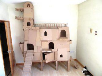 Как сделать домик для кошки своими руками пошагово? 150+ (Фото) из дерева, картона, коробок, с когтеточкой