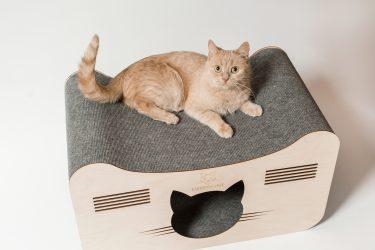 Домики для кошек из натурального дерева эксклюзивные