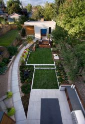 Современный Ландшафтный дизайн двора частного дома (160+ Фото). Как Красиво обустроить и украсить Своими руками