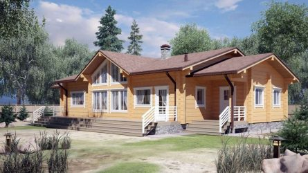 Проекты Финских домов из клееного бруса: Чем хороши и как оформить? (180+ Фото)