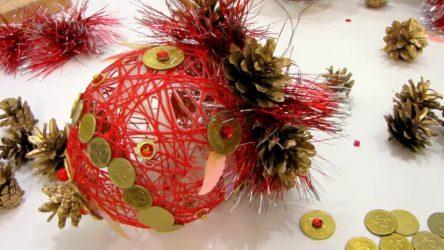 Как сделать Красивые Шары на Новый год своими руками? Интересные и объемные Поделки (115+ Фото)