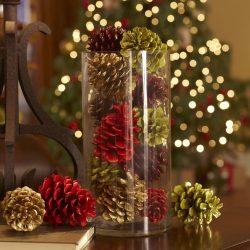 Поделки из еловых шишек (больших, крашенных) на Новый год (175+ Фото) Красивые поделки к празднику!