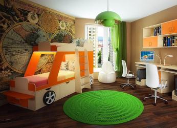 Как добавить изюминки в детскую комнату: кровать в виде машины для мальчиков и девочек (85+Фото). Особенности использования в интерьере