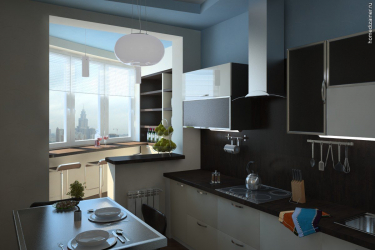 Кухня совмещенная с лоджией: Реальные способы использовать место разумно. Не скучный дизайн для интерьера (120+ Фото)