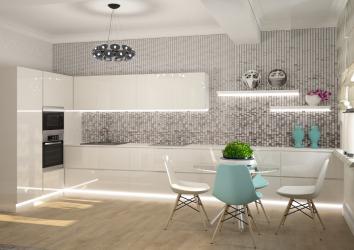 Где лучше использовать мозаику в интерьере: на кухне, в ванной или гостиной? (180+ Фото). Вдохновляющий дизайн с вариантами (деревянная, зеркальная, стеклянная)