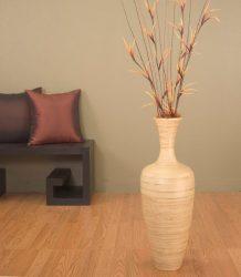 Как меняют интерьер декоративные напольные вазы с цветами? 130+ (Фото) высоких, стильных, красивых