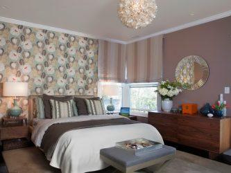 Сочетание Обоев в спальне: 240+ Фото Красивых Комбинаций интерьеров