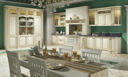 Патина в Интерьере: 180 (Фото) Фасадов Кухонь, Двери, Столы