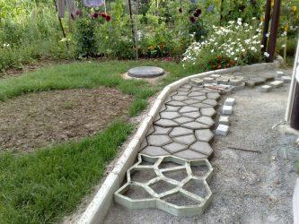 Как красиво оформить Садовые дорожки своими руками с малыми затратами? 180+ Фото дачных вариантов из разных материалов (из плитки, пластика, резины)
