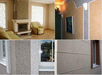 Декоративная штукатурка «Короед»: Технология отделки стен для дома (160+ Фото)