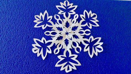 Простые и объемные Снежинки из бумаги своими руками: 75+ Фото с Пошаговой инструкцией
