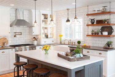 Дизайн Угловых кухонь: 175+ Фото Решений для Кухонного гарнитура