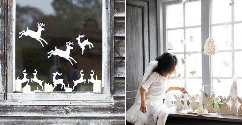 Как сделать Украшения на окна из бумаги своими руками? (150+ Фото). Встречаем Новый 2018 Год Собаки красиво