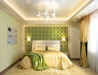Как сделать интерьер спальни зеленого цвета лучшим местом для отдыха? 175+ (Фото) вариантов Дизайна (шторы, обои, стены)