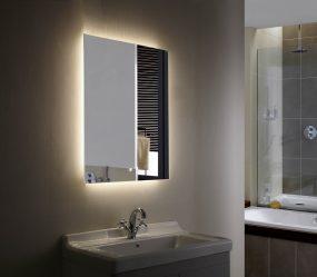 Зеркало в ванную с Подсветкой (200+ Фото): Практичность и оригинальность идеи. Выбираем дополнительные аксессуары (розетка/часы/подогрев)
